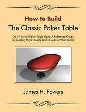How To Build The Classic Poker Table Do It Yourself Poker Table Plans: A Refe...