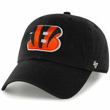 Cincinnati Bengals 47 BRAND NFL Black Clean up Adjustable Hat