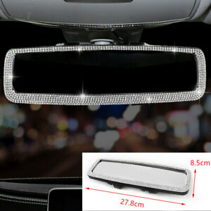 Car Bling Diamonds Interior Cover Decor Clip-On Rearview Mirror Auto Accessories