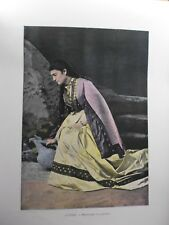 Caucase&Asie centrale/Gravure 19°in folio couleur/Mingrélienne a la fontaine
