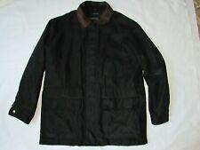 Men's Liz Claiborne Jacket Black Suede Textile Finish Outwear Coat Size XL