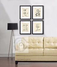 Vintage Fishing Lure Fishing Reel set of 4 unframed Patent Art prints Wall Decor