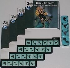4 x BLACK CANARY: LIKE MOTHER, LIKE DAUGHTER 5 Green Arrow & Flash Dice Masters