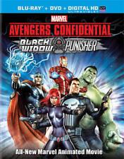 Avengers Confidential Black Widow  Punisher Blu-ray/DVD + Digital Copy Code