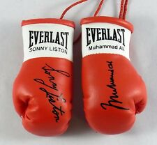 Muhammad Ali V Sonny Liston  Autographed Mini Boxing gloves  (collectible)