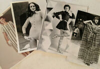 Vintage 1970s Model High Fashion Show London Mini Dress Bodysuit Photo Lot Of 4