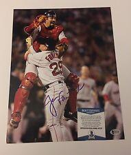 Red Sox Jason Varitek Signed 11x14 photo W/Beckett Coa