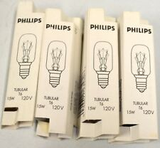 Philips #15T7C T6 - 15W - 120V Lot of 4 - New.