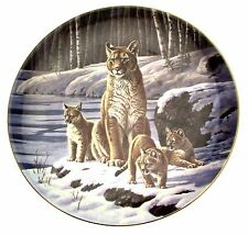 Wedgwood The Cougars By the Waters Edge big cat plate Cougar Plate CP2369