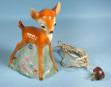 1950s Bambi Goebel Porcelain Night Light Figural Perfume Lamp Walt Disney Prod.