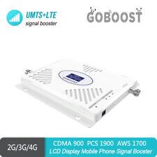 Signal Booster 2G 3G 4G 850/1700/1900mhz Tri B2 B4 B5 Amplifier For AT&T Verizon