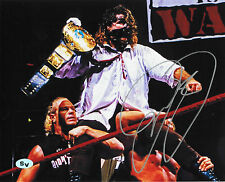 Mick Foley Autographed Signed 8x10 Photo Mankind Dude Love (JSA PSA Pass) WWE
