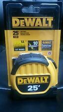 DEWALT 25' TAPE MEASURE DWHT36107 10' STANDOUT BRAND NEW HEAVY DUTY