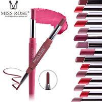 8 Colors Matte Creamy Double Lipstick Pencil Lip Stick Batom Rouge Makeup Gift
