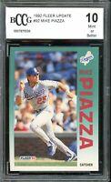 1992 Fleer Update #92 Mike Piazza Rookie Card BGS BCCG 10 Mint+