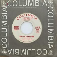 Northern Soul 45 BOBBY SCOTT Don't Pay Them No Mind/Give Me Tomorrow HEAR Promo
