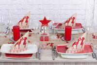 Tischläufer Sarah aus Linclass® Airlaid 40 cm x 4,80 m, 1 Stück - Weihnachten