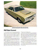 1967 Dodge Coronet 426 Hemi Article - Must See !!