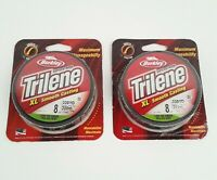 2 Pack Berkley Super Strong Trilene XL Smooth Casting 8 Lb 330 Yards Green