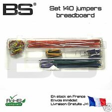 Lot 140 jumpers plaque essais breadboard jumpers proto test vero board 0ohm