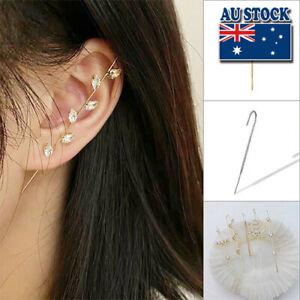 Elegant Fashion Ear Cuffs Crawler Hook Earrings Ear Wrap Climbers Decor Women