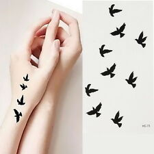 DIY Bird Pattern Design Tattoo Sticker Waterproof Temporary Tattooing Body Art#J