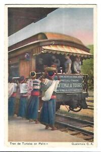 Guatemala. Tren de Turistas en Palin. Railway. Ethnic.
