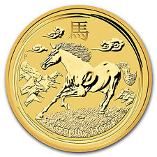 2014 Australia 1/20 oz Gold Lunar Horse BU (Series II) - SKU #78082