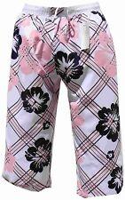 Pantaloncini da Bagno Bermuda 3/4 Cargo Casual Bianco Rosa in S M L XL XXL XXXL 2xl 3xl