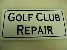 Golf Club Repair Metal Sign for Course Pro Shop & Driving Range