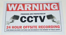 2 X CCTV Sticker Decals sign security surveillance warning notice camera monitor