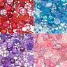 100 Mix Acrylic & Resin Buttons & Flatbacks Cardmaking Embellishments 9 Colours