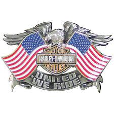 "HARLEY-DAVIDSON PIN "" United We Ride "" SPILLA, Aquila, Stelle & Strisce p125844"