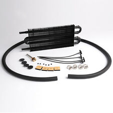 Universal Full Aluminum Remote Transmission Oil Cooler Kit Auto/MT Radiator