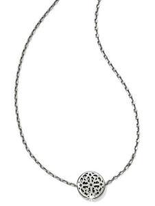 Brighton Silver Plated Ferrara Mini Floral Pendant Layer Necklace Jewelry New
