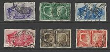 ITALY # 413-18 Used ROME-BERLIN AXIS HITLER MUSSOLINI  ( 002 )