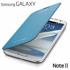 Brand New Genuine Samsung Galaxy Note 2 N7100 Flip Case Cover Light Blue