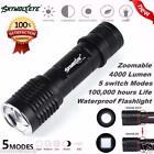 Tactical 4000LM Zoomable Cree XML T6 LED 5 Modes Police Flashlight Lamp Torch