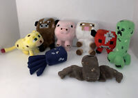Mojang Minecraft Plush Stuffed Animal Pig Sheep Bull More 2014 Lot Of 8
