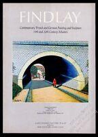 1971 Camille Bombois Sous La Voute painting NYC gallery vintage print ad