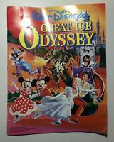 Walt Disneys Great Ice Odyssey Souvenir Program Collectible Vintage 1982