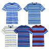 Men's Summer Regular Fit Striped Crew Neck Soft Short Sleeve T-shirt Tee