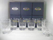 Johnnie Walker Whisky Blue Label 6x Glasses NEW in Box Free Shipping