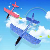 Espuma mano tiro avión lanzamiento al aire libre planeador niños juguete regaloK