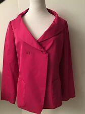 NWOT Jil Sander Cotton Hot Pink Jacket Blazer Silk Lining Sz 38 US 6 8 M