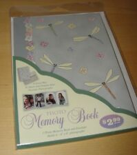 Decorative Dragonfly Four-Section Folio Fold-Out Photo Frame Holds 4 -4x6 Photos