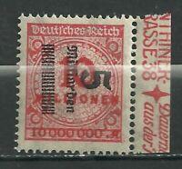 1923 German Hyper inflation Sideways Over Print - Marginal  Error Stamp .