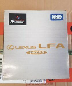 TOMICA TAKARA TOMY - LEXUS LFA GIFT SET [5 MODELS PLUS KEY] VHTF MINT CARS