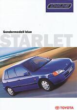 Prospekt Toyota Starlet blue 1998 Autoprospekt 7 98 brochure Auto PKWs Japan