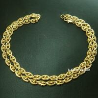 18k Yellow Gold Filled Women  Necklace Elegant Chain Link Jewelry Luxury n288